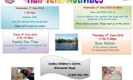 Half Term Activities at The Cowley Children's Centre